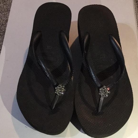 7350842583909c Havaianas Shoes - Havianas High Fashion Poem Wedge Sandal - US 8